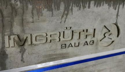 In Beton gegossen: Unser Logo