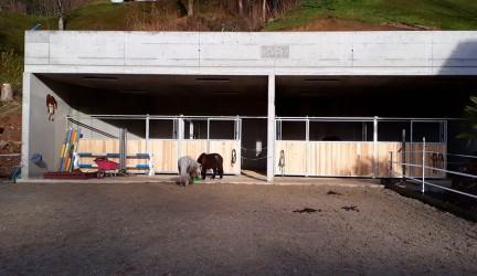 Neubau Pferdestall mit Reitplatz