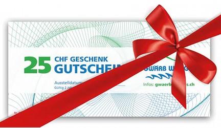 Geschenkidee: Gutschein Gwärb Weggis
